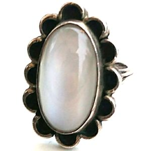 VINTAGE 925 Chatoyant MoonStone Sterl.Silver Ring